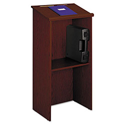 Safco Stand-Up Lectern With Adjustable Shelf, 23w x 15-3/4d x 45-7/8h, Cherry
