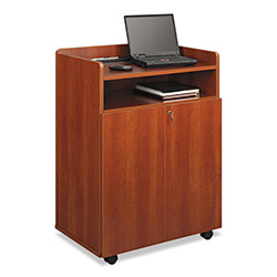 Safco Executive Mobile Presentation Stand, 29-1/2w x 20-1/2d x 40-3/4h, Cherry