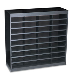 "Safco Steel Literature Center, Letter, 36 Compartments, 36 1/2""h, Black"