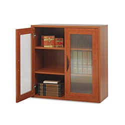 Safco Après Two-Door Cabinet, 30w x 12d x 30h, Cherry