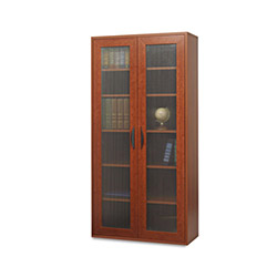 Safco Après Tall Two-Door Cabinet, 30w x 12d x 60h, Cherry