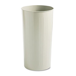 Safco Beige Fireproof Trash Can, 20 Gallon, Round