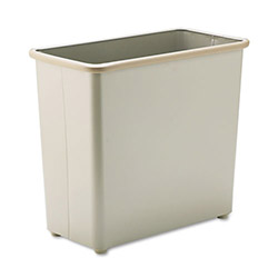 Safco Beige Steel Fireproof Trash Can, 7.75 Gallon, Rectangle