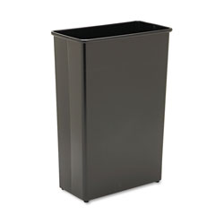 Safco Black Steel Fireproof Trash Can, 22 Gallon, Rectangle
