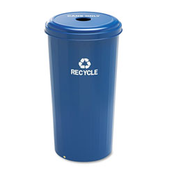 Safco Blue Recycling Bin, 20 Gallon
