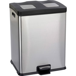 Safco Black Recycling Station, 15 Gallon