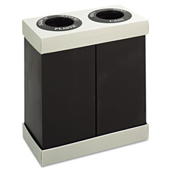 Safco Brown Recycling Bin, 28 Gallon