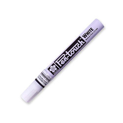 Sakura Paint Marker, X-Fine Point, Water/Fade Proof, Nontoxic, White