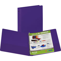 "Samsill Ring Binder, 1"" Capacity, Purple"