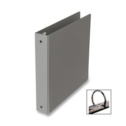 "Samsill Ring Binder, 1"" Capacity, Gray"