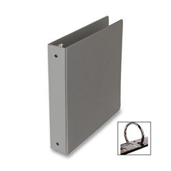 "Samsill Ring Binder, 1 1/2"" Capacity, Gray"