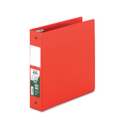 "Samsill 47% Recycled Antimicrobial Locking Round Ring Binder, 2"" Capacity, Red"