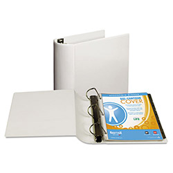 "Samsill 39% Recycled Top Performance DXL™ D-Ring Binder, 4"" Capacity, White"