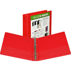"Samsill Vue 1"" View Binder, Red"