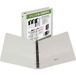 "Samsill Vue 1"" View Binder, White"