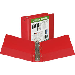 "Samsill Vue 3"" View Binder, Red"