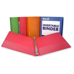 "Samsill Round Ring View Binder, 1 1/2"", Assorted"