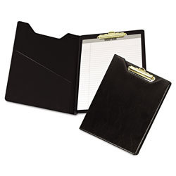 Samsill Economy Vinyl Pad Holder with Brass Clip & 8 1/2x11 Pad, Black