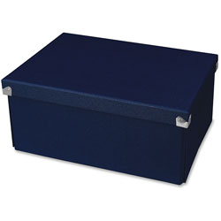 Samsill Pop n' Store Decorative Box, 9.5 x 12.75 x 3.13, Navy Blue