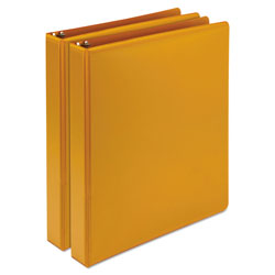 "Samsill Antimicrobial 1"" View Binder, Orange"