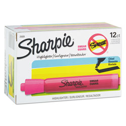 Sanford Accent Tank Style Highlighter, Chisel Tip, Pink, Dozen