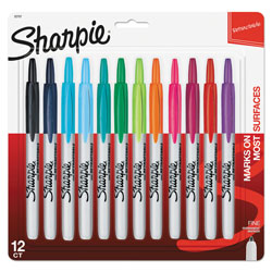 Sharpie® RT Retractable Permanent Markers, 12 Color Set, Assorted Colors