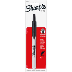 Sharpie® Black Nontoxic Retractable Sharpie Marker with Fine Point