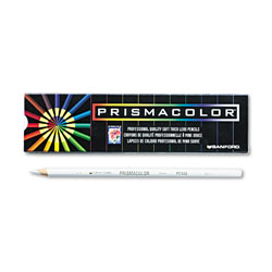 Prismacolor Premier Colored Pencil, White Lead/Barrel, Dozen