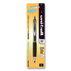 Uni-Ball Gel pen, Retractable, Refillable, .7mm Point, 1/CD, Black