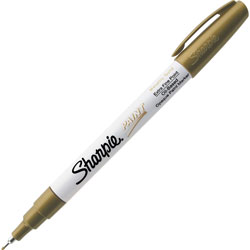 Sharpie® Paint Markers, Oil Base, Extra Fine, Metallic Gold