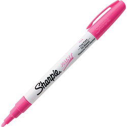 Sharpie® Paint Markers, Fine, Oil-based, Water/Fade Resistant, Pink