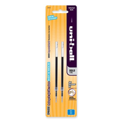 Uni-Ball Refills for Jetstream RT Ballpoint Pen, Bold Point, Blue Ink, 2/Pack