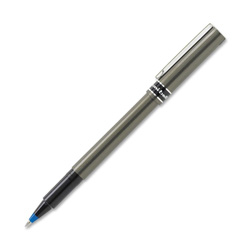 Uni-Ball Deluxe Roller Ball Stick Waterproof Pen, Blue Ink, Micro, Dozen