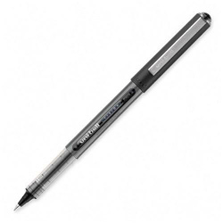 Uni-Ball Vision Roller Ball Stick Waterproof Pen, Black Ink, Micro, Dozen