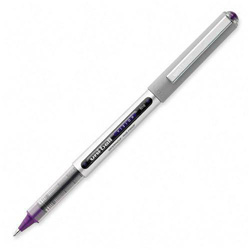 Uni-Ball Vision Roller Ball Stick Waterproof Pen, Majestic Purple Ink, Fine, Dozen