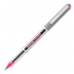 Uni-Ball Vision Roller Ball Stick Waterproof Pen, Passion Pink Ink, Fine, Dozen