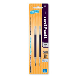 Uni-Ball Refill for uni-ball Signo Gel 207, Medium, Blue Ink, 2/Pack