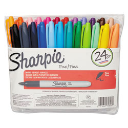Sanford Fine Point Permanent Marker, Assorted, 24/Set