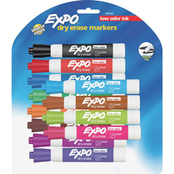 Expo® Dry-erase Marker, Chisel Point, 12 Ct., Assorted
