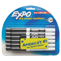 Expo® Low Odor Dry Erase Marker, Fine Point, Black, Dozen