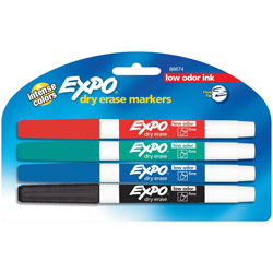 Expo® Dry-erase Markers, Fine Point, Nontoxic, Assorted
