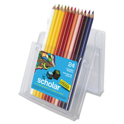 Prismacolor Scholar Colored Pencil Set, 2B. 24 Assorted Colors/Set