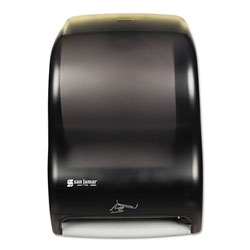San Jamar Smart System Electronic Touchless Hard Roll Paper Towel Dispenser, Black