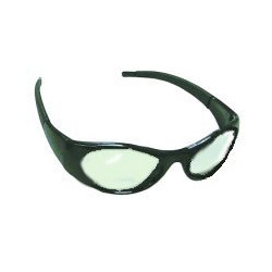 Sas Safety Stingers High Impact Safety Glasses Black Frames/Clear Lens