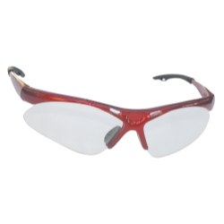 Sas Safety Diamondback Safety Glasses with Red Frame and Clear Lens in a Polybag