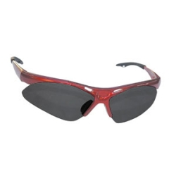 Sas Safety Diamondback Safety Glasses with Red Frame and Shade Lens in a Polybag
