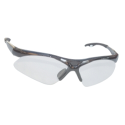 Sas Safety Diamondback Safety Glasses with Silver Frame and Clear Lens in a Polybag