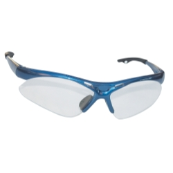 Sas Safety Diamondback Safety Glasses with Blue Frame and Clear Lens in a Polybag