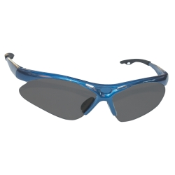 Sas Safety Diamondback Safety Glasses with Blue Frame and Shade Lens in a Polybag