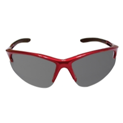 Sas Safety DB2 Safety Glasses with Shaded Lens and Red Frames in Poly Bag